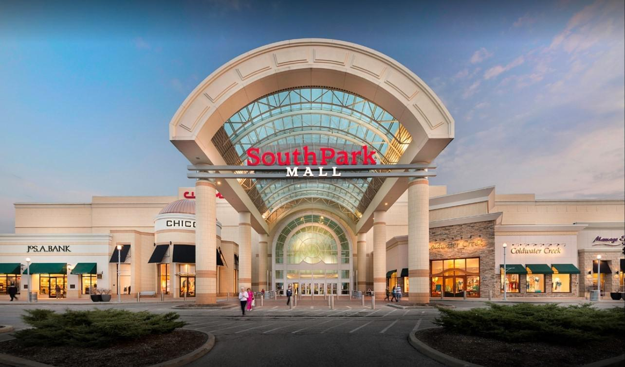 Commercial painting at Southpark Mall